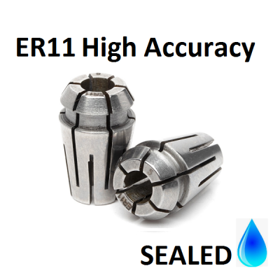 3.0mm ER11 SEALED High Accuracy Collets (5 micron)