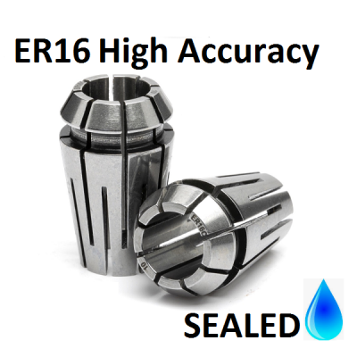 10.0mm ER16 SEALED High Accuracy Collets (5 micron)
