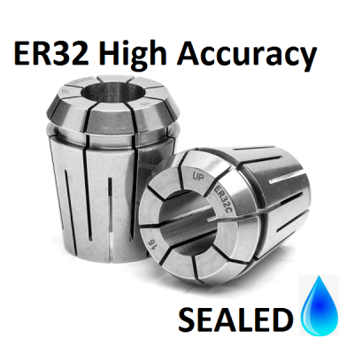 10.0mm ER32 SEALED High Accuracy Collets (5 micron)