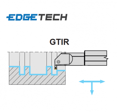 2mm Wide Cut, Right Hand, Internal Grooving Holder (16mm Dia. Shank) GTIR0016-2 Edgetech