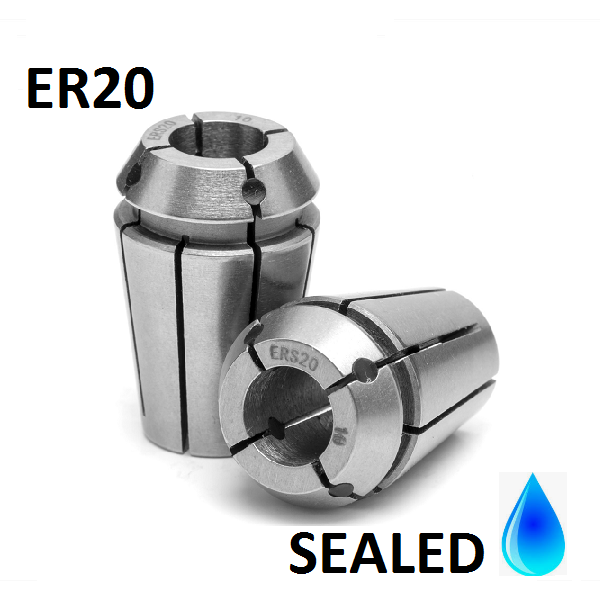 4.0mm ER20 SEALED Standard Accuracy Collets (10 micron)