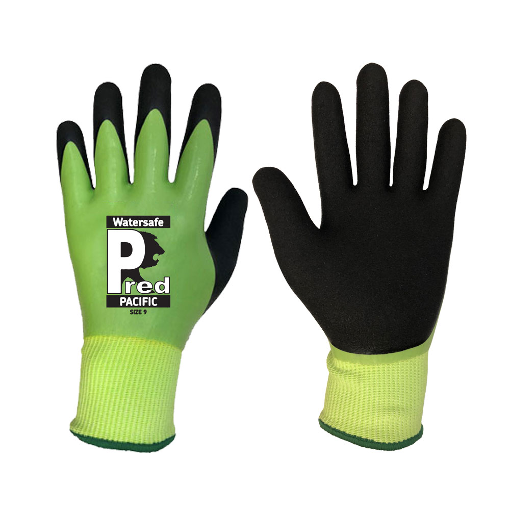 Waterproof Safety Glove (2X43C) Green Size:9 - Large Pacific Predator